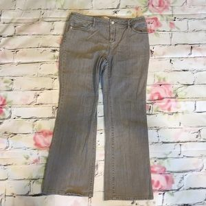 Cabi Grey Boot Cut Jeans Size 14 EUC